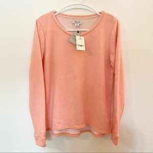 NWT!! Lucky Brand Peach Knit Sweater | M